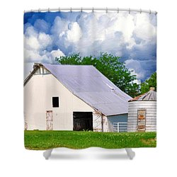 Cloudy Day In The Country Shower Curtain by Liane Wright