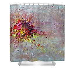 Cloudy Monday Abstract Painting Shower Curtain
