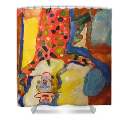 Clown Girl Shower Curtain