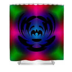 Clown In Color Shower Curtain by Steve Purnell