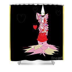 Shower Curtain featuring the digital art Clown Love by Ann Calvo