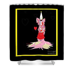 Clown Love Shower Curtain
