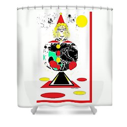Clowning  Around 2 Shower Curtain