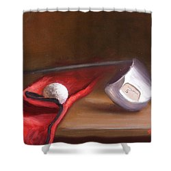 Club And Balls Shower Curtain