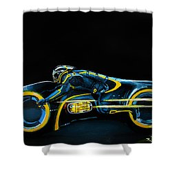Clu's Lightcycle Shower Curtain by Kayleigh Semeniuk