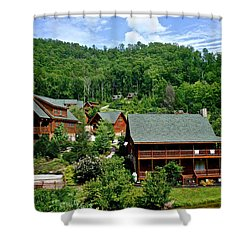 Cluster Cottages Shower Curtain by Frozen in Time Fine Art Photography