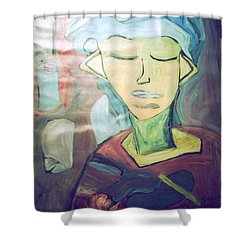 Cluttered Mind Shower Curtain