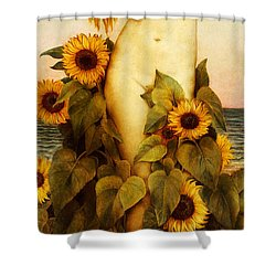 Clytie Shower Curtain by Evelyn De Morgan