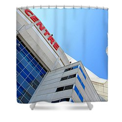 Cn Tower And Rogers Centre Shower Curtain by Valentino Visentini