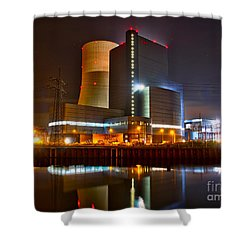 Coal Fired Powerhouse Shower Curtain