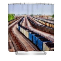Coal Snakes Shower Curtain