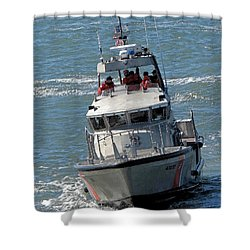 Shower Curtain featuring the photograph Coast Guard At Depot Bay by Chris Anderson