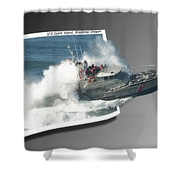 Coast Guard Shower Curtain by Betty Depee