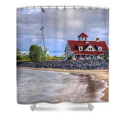 Coast Guard Station In Muskegon Shower Curtain
