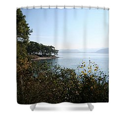 Shower Curtain featuring the photograph Coast by Tracey Harrington-Simpson