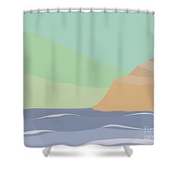 Coastal Bank Shower Curtain