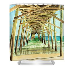Coastal Cathedral  Shower Curtain