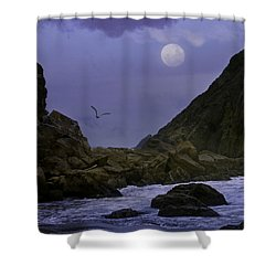 Coastal Moods Moonglo Shower Curtain