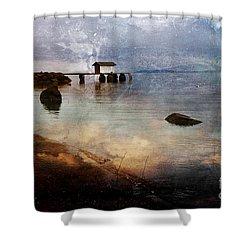 Coastal Path Shower Curtain by Randi Grace Nilsberg