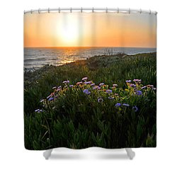 Coastal Sunset Shower Curtain by Lynn Bauer