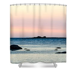 Coastal Twilight View Shower Curtain