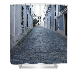 Shower Curtain featuring the photograph Cobble Street by David S Reynolds