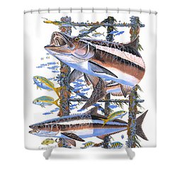 Cobia Hangout Shower Curtain by Carey Chen
