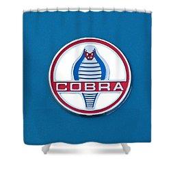 Cobra Emblem Shower Curtain by Jill Reger