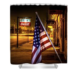 Coca-cola And America Shower Curtain