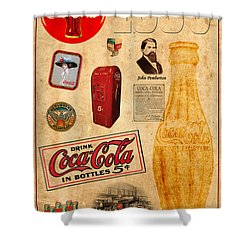 Coca Cola Shower Curtain by Andrew Fare