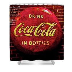 Coca Cola Dylan Quote Shower Curtain by Joan  Minchak