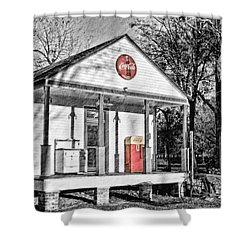 Coca Cola In The Country Shower Curtain by Scott Pellegrin