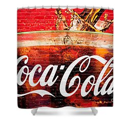 Coca Cola Shower Curtain by Luciano Mortula