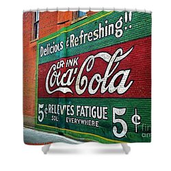 Coca Cola Shower Curtain by PainterArtist FIN