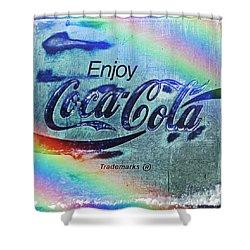 Coca Cola Rainbow Shower Curtain