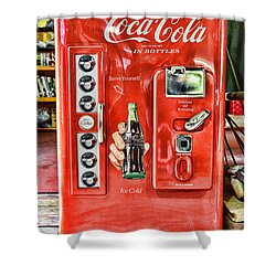 Coca-cola Retro Style Shower Curtain