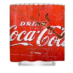 Coca-cola Sign Shower Curtain