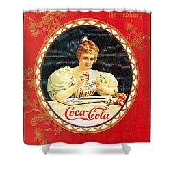 Coca - Cola Vintage Poster Calendar Shower Curtain