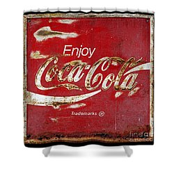 Coca Cola Vintage Rusty Sign Shower Curtain