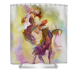 Cock Fight Shower Curtain by Catf