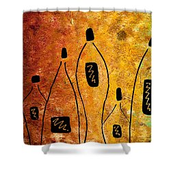 Cocktail Bar Shower Curtain by Carmen Guedez