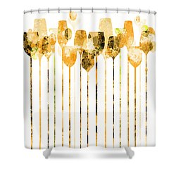 Cocktail Hour 4 Shower Curtain by Angelina Vick
