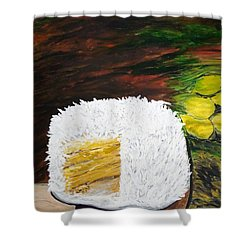Coconut Cake Shower Curtain