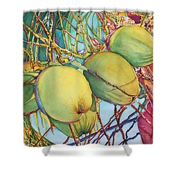 Coconuts At Sunset Shower Curtain