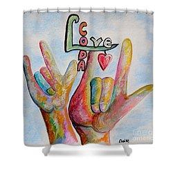 Coda - Children Of Deaf Adults Shower Curtain by Eloise Schneider