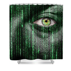 Code Breaker Shower Curtain by Semmick Photo