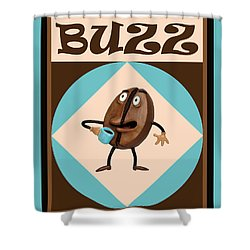 Coffee Buzz Shower Curtain