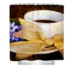 Coffee 4 One Shower Curtain by Darren Fisher