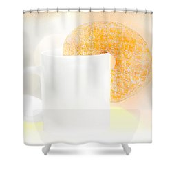 Coffee And Donuts Two Shower Curtain by Bob Orsillo