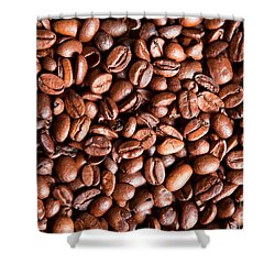 Coffee Beans  Shower Curtain by Sharon Dominick